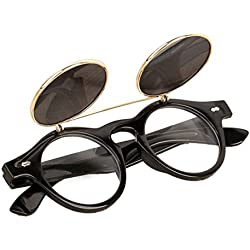 Unisex Sonnenbrille , Loveso 2017 Vintage Steampunk Gothic Runde UV400 Brille Retro Sonnenbrille (B)