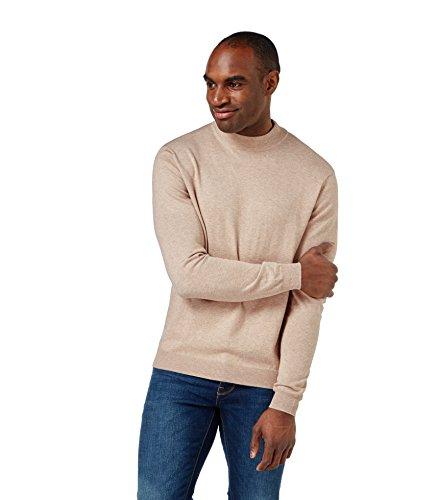 WoolOvers Pull à col cheminée - Homme - Soie & coton Linen