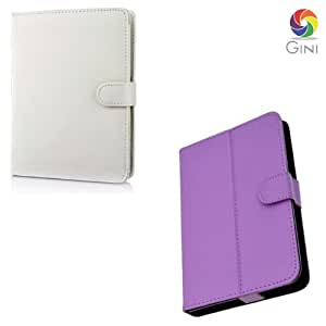 Gini 7 inches Flip cover forVideocon Mobiles VT 71 Tablet Combo of White And Purple