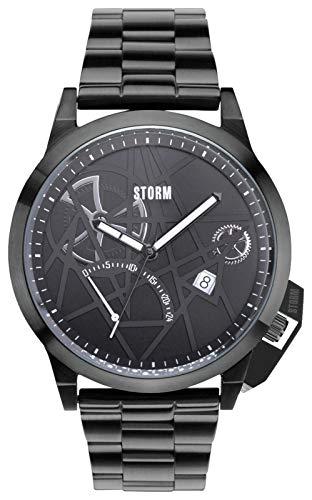 Storm uomo 'Exlcusive tutto nero orologio in acciaio INOX.