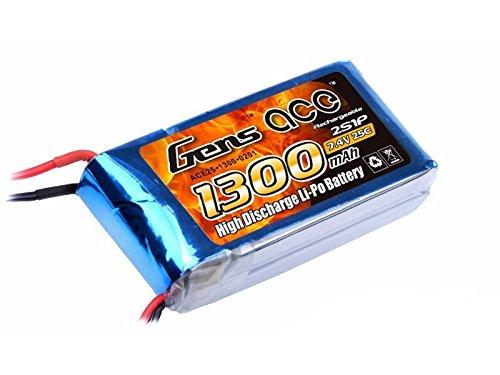 Gens ace 1300mAh 7.4V 25C 2S batería recargable Pila Polímero de litio Juguete Multicolor Para RC Helicópteros y Aviones más Pequeños