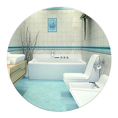YF-Mirror Espejo Redondo de Pared para baño con Biselado - Premium Polishing HD Makeup Sin Marco Espejo...