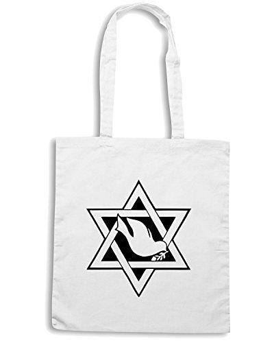 T-Shirtshock - Borsa Shopping FUN0436 1902 religious stickers 01 15502 Bianco