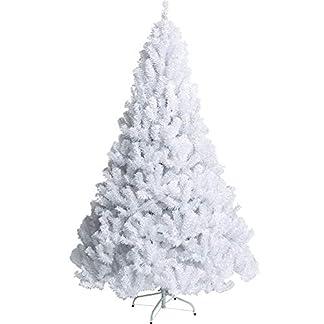 TOPYL Artificial Árbol De Navidad Blanco Pino Estrecho Árbol De Navidad Primo Cáucaso Bisagras con Soporte De Metal Eco-amistoso PVC para Interiores Vacaciones Decoración