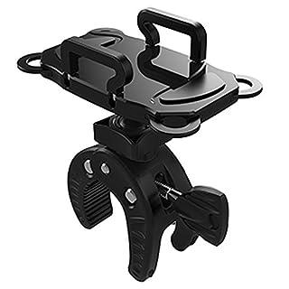 AIU Fahrrad Handyhalterung Universal Motorrad/Fahrrad / MTB Fahrrad Lenker Handyhalter für die Meisten Smartphones und GPS (Schwarz)