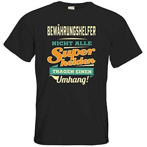 getshirts - RAHMENLOS® Geschenke - T-Shirt - Superhelden Umhang - Bewaehrungshelfer Black