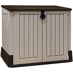 Keter - Cobertizo de jardín exterior Store It Out Midi, Color topo / beige