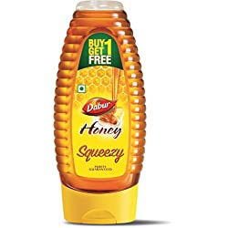 Dabur 100% Pure Honey Squeezy Pack ( Buy 1 Get 1 Free)