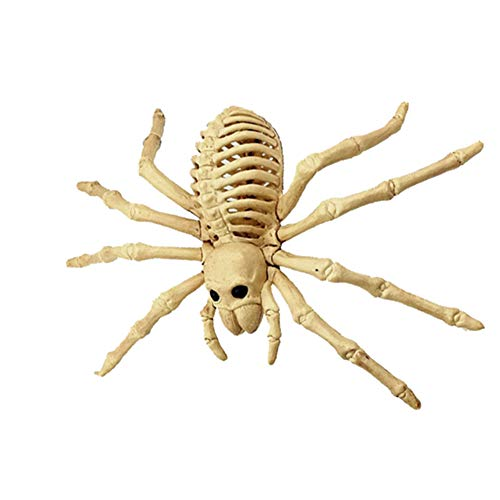 (YUnnuopromi Gruselige Spinnen Skelett Modell Knochen Horror Halloween Party Bar Home Dekoration White)
