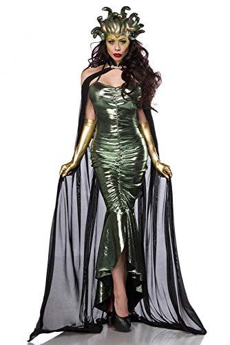 shoperama Super Deluxe Mystic Medusa Damen Kostüm Schlangen Mythologie griechische Göttin, Größe:S