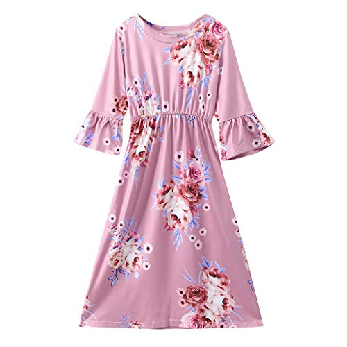 Baby T-Shirt Strap Kleid Weihnachten Outfits 2 Teile/Satz Kleinkind Mädchen Langarm Rüschen Top Overall Plaid Rock Kleidung Set (3-4 Jahre) -