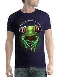 a70b723cd avocadoWEAR Rana Verde Auriculares Música Hombre Camiseta ...