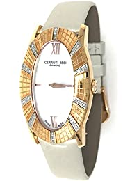Cerruti 1881crwdo009s266N de diamante reloj de pulsera para mujer 26x 42mm madre de Pearl, 30correa de piel Real de diamantes, Plata, Oro