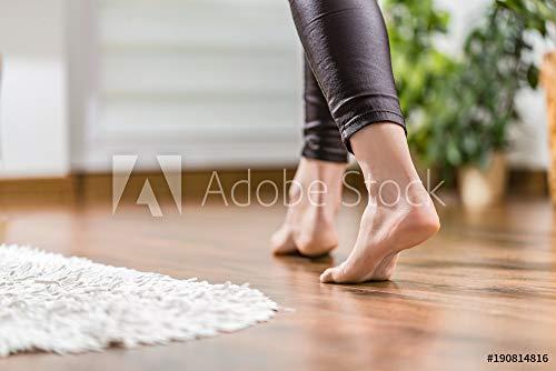druck-shop24 Wunschmotiv: Warm Floor - The Concept of Floor Heating and Wooden Panels. #190814816 - Bild auf Alu-Dibond - 3:2-60 x 40 cm / 40 x 60 cm