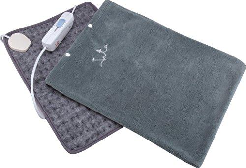 JATA CT1 - Almohadilla eléctrica (43x32 cm, mando regulador con 3 niveles de calor, funda textil extraíble y lavable)