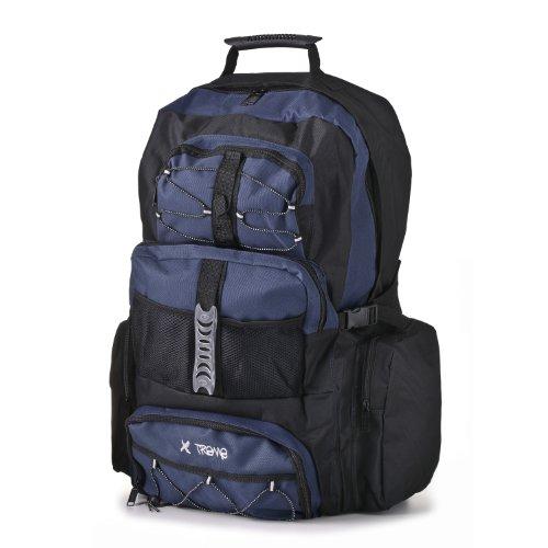Xtreme Rucksack, leicht, für Reisen und Wandern schwarz - Black/ Navy