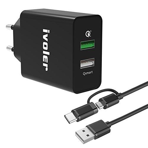 iVoler Quick Charge 3.0 Type C 30W 2 Porte...