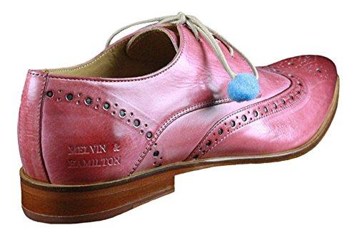 Melvin & Hamilton, Scarpe stringate donna rosa Pink Pink