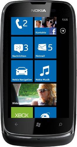 Nokia Nokia Lumia 610 Smartphone (9,4 cm (3.7 Zoll) Touchscreen, 5 Megapixel Kamera, Windows Phone Mango OS) schwarz