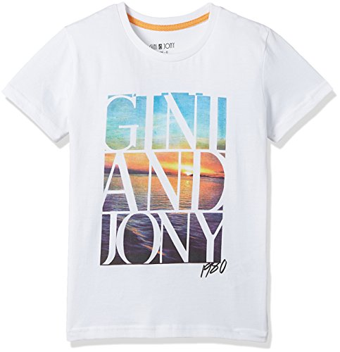 Gini & Jony Baby Boys' T-Shirt (121246516017 C101 BRIGHT WHITE(C101) 24M)