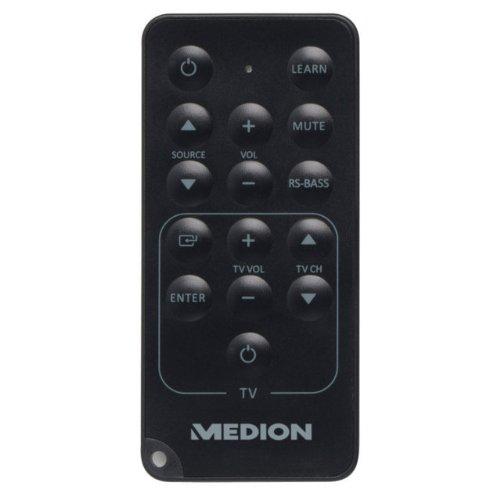 MEDION-MD-83436-P69042-21-TV-Soundbar-Lautsprecher-kabellosem-Subwoofer–besonders-flacher-Funk-Subwoofer-mit-40-Watt-RMS–Fernbedienung