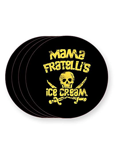 Mama Fratelli's Ice Cream The Goonies Drinks Coasters, Round Pack of 4