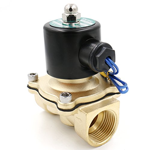 "Heschen Messing Elektrisches Magnetventil 25 mm(1"") AC 220 V Direct Action Wasser Air Gas Normalerweise geschlossen Ersatz-Ventil"