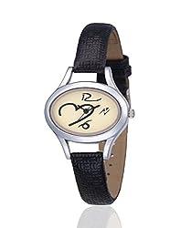 Yepme Tapze Women's Watch - Cream/Black -- YPWWATCH0728