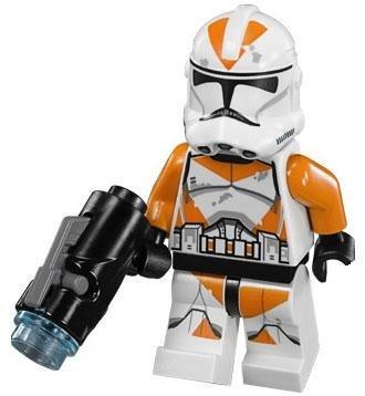 LEGO Star Wars LOOSE Minifigure Utapau 212th Battalion Clone Trooper with Firing Blaster (Star Clone Blaster Trooper Wars)