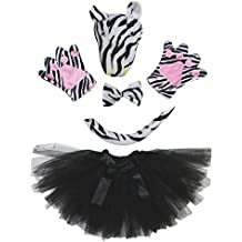 Petitebelle 3D diadema Bowtie Guantes de cola Tutu niña Disfraz de 5 piezas