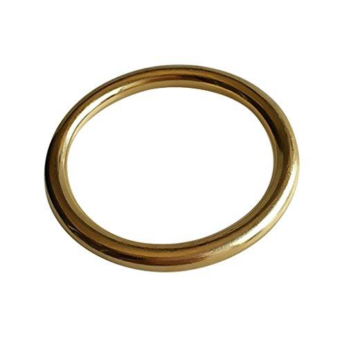 MagiDeal Metallringe Rundringe Messing O-Ringe Ø 5,1cm für Hundehalsband Gürtel Gurte