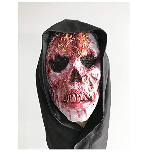 Weird Scary Mask Zombie Perücke Oyster Horror Hexe Maske Halloween Karneval Weihnachtsfeier Dekoration Latexmaske Bar Haunted House Movie Requisiten Horror Party Maske Erwachsene ()