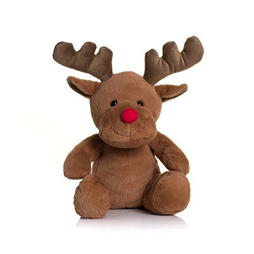 Mumbles - pupazzo a forma di renna con naso rosso (m) (marrone)