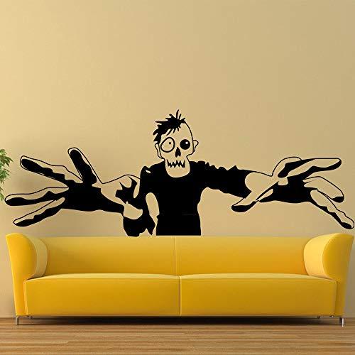 guijiumai DIY Vinyl Zombie Halloween Wandaufkleber Wanddekor Wandtattoos Dekoration weiß L 100X40 cm -