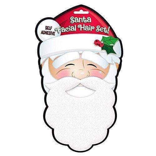 Kostüm Erwachsene Geburt Für - zum Aufkleben Santa Claus Bart selbstklebend weiches Plüsch Vater Weihnachten Geburt Kinder Erwachsene festlich Kostüm Verkleidung Zubehör