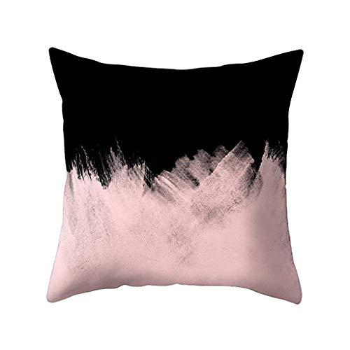 Wenini Abstrakter Stil Kissenbezüge Baumwolle Leinen Kissenbezug für Sofa 45,7 x 45,7 cm Überwurf Kissenbezüge ohne Kissen B -