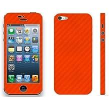 Pegatina vinilo skin sticker efecto fibra de carbono para Iphone 5 , color rojo