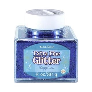 Advantus Sapphire-Fine Glitter 2 Ounce, Acrylic, Multicolour