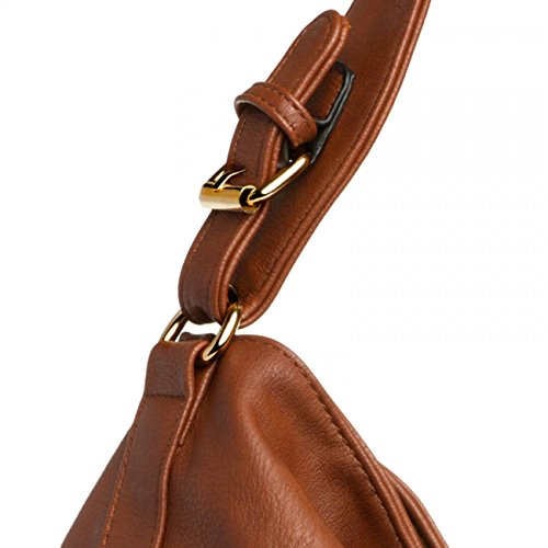 CASPAR Fashion, Borsa a tracolla donna Marrone (Cognac)
