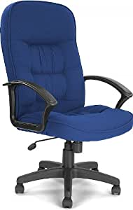 Cadiz High Back Executive Fabric Office Chair Blue Kitchen Home