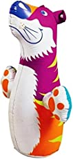 Intex PVC Vinyl Water Hit Me Inflatable Bouncers Shape of a Tiger, 20x19x6cm (44669, Multicolour)