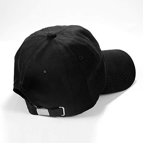 Imagen de cosyinsofa  de béisbol estilo polo clásico deportivo casual, liso sombrero para el sol,  de béisbol ajustable de color liso, suave y transpirable suave para hombre mujer black 1  alternativa