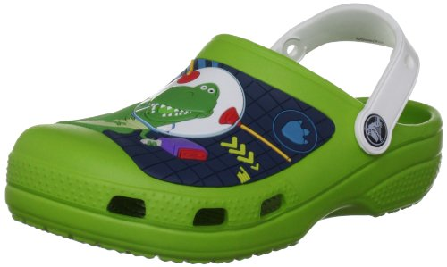 Crocs Kids Buzz & Rex Toy Story Clog - Volt Green/White