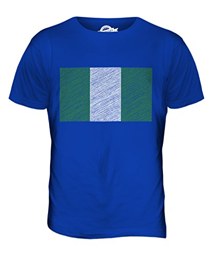 CandyMix Nigeria Kritzelte Flagge Herren T Shirt Königsblau