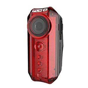 Cycliq Fly6[v] Rear-Facing Bike Camera 30 Lumen Tail light,Red,One Size