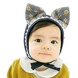 Camilife Baumwolle Erstlingsmütze Babymütze Mützchen für 0-24 Monate Baby Neugeborenes Säugling Kleinkind Jungen Mädchen Mütze - Einfarbig Kätzchen Dunkelblau