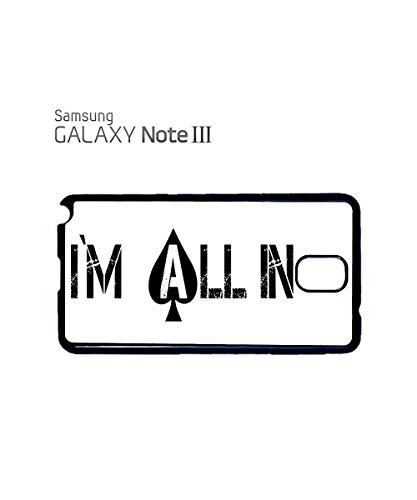 I am All in Gambling Las Vegas Mobile Cell Phone Case Samsung Galaxy S4 Mini Black Noir