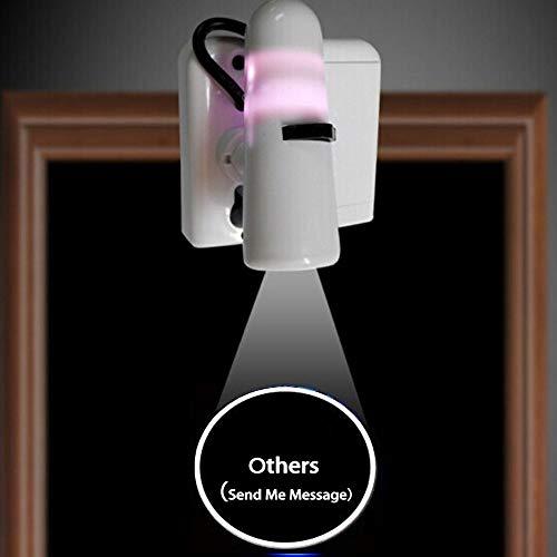 MIVISO Nachtlicht Projektor zu Hause Tür Willkommen Höflichkeit Lampe Wireless Auto ein und aus LED Laser Lampe Überraschungsgeschenk für Geburtstag, Partys, Schlafzimmer (Custom Ihr Logo)
