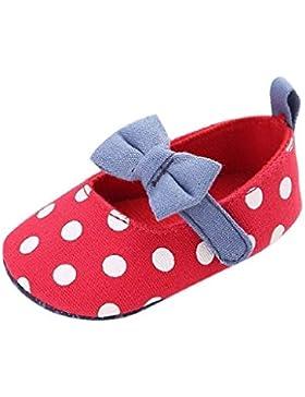 Bebé Prewalker Zapatos Auxma Zapatos de lona del arco-nudo de la niña,Zapatillas antideslizantes suaves zapatos...