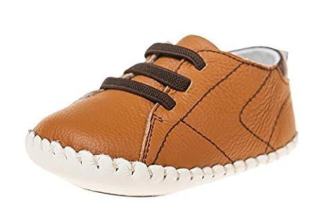 Petit Bleu Agneau Chaussures Marchettes Pour Bébés Chaussures Espadrilles 3123 brun - Marron, 6-12 Mois
